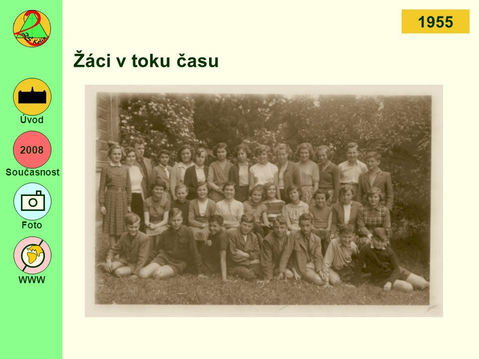 2008 Současnost Foto WWW Úvod Žáci v toku času 1955