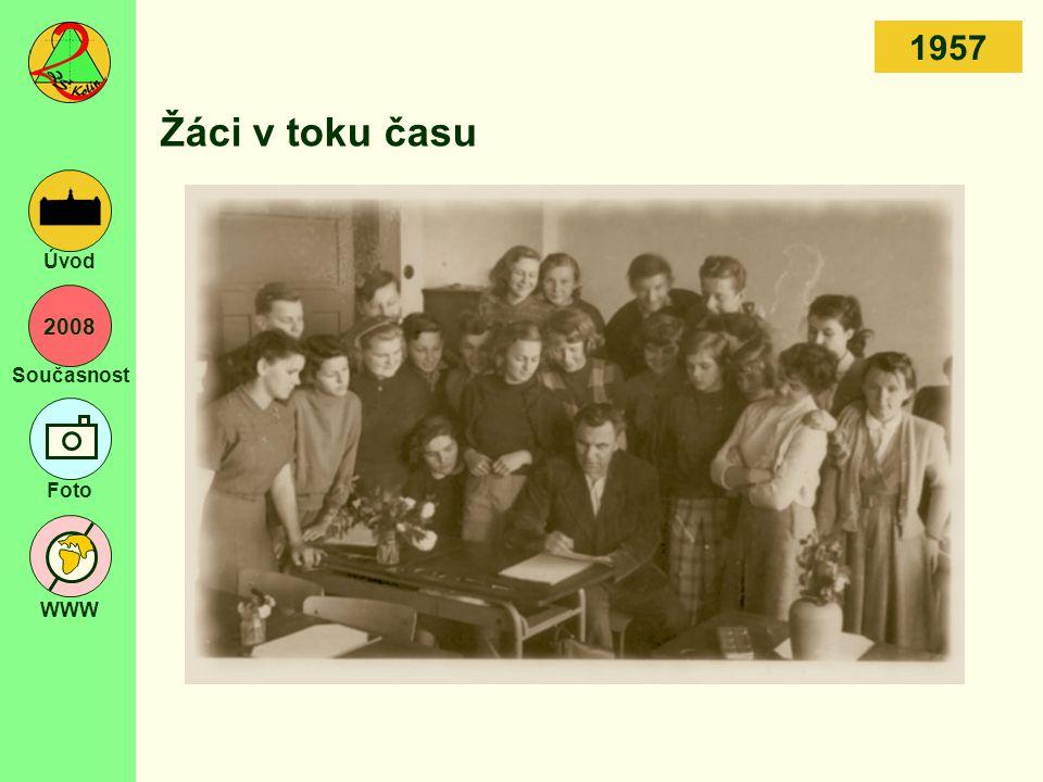 2008 Současnost Foto WWW Úvod Žáci v toku času 1957