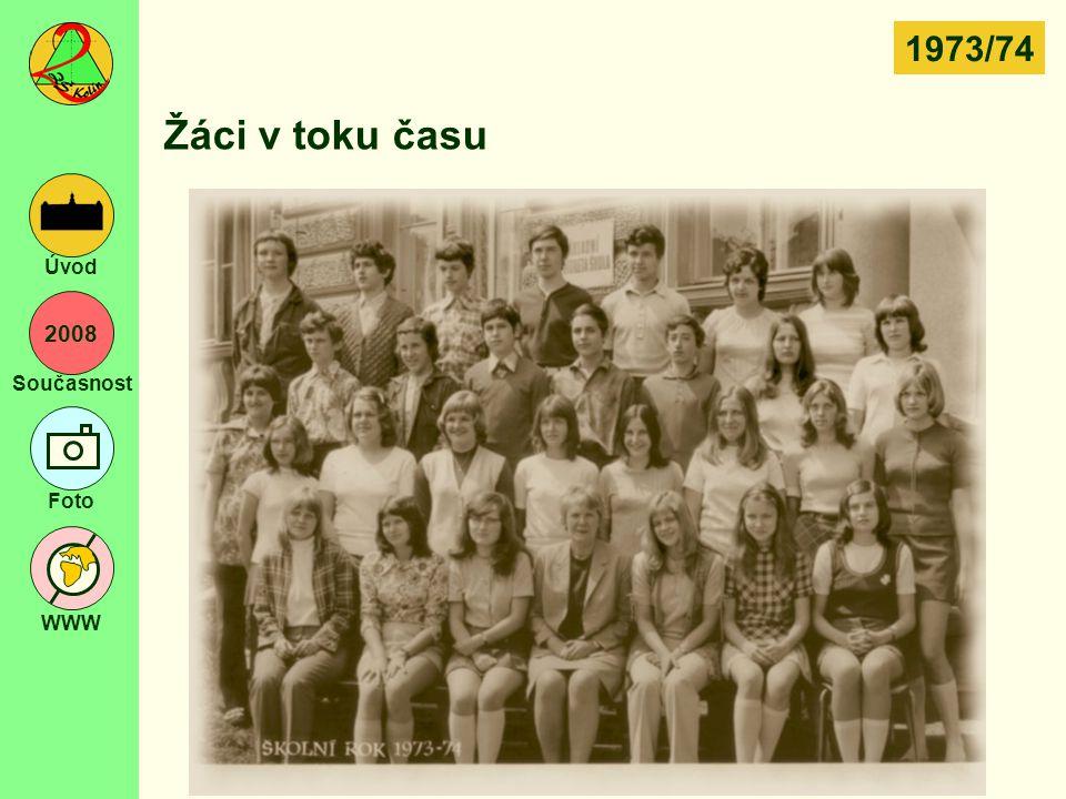 2008 Současnost Foto WWW Úvod Žáci v toku času 1973/74