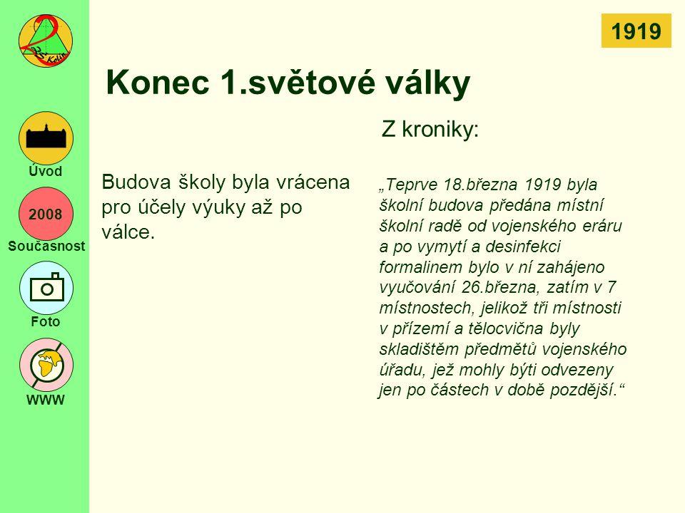 2008 Současnost Foto WWW Úvod Žáci v toku času 1983/84