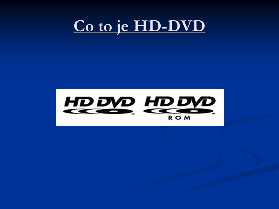 Co to je HD-DVD
