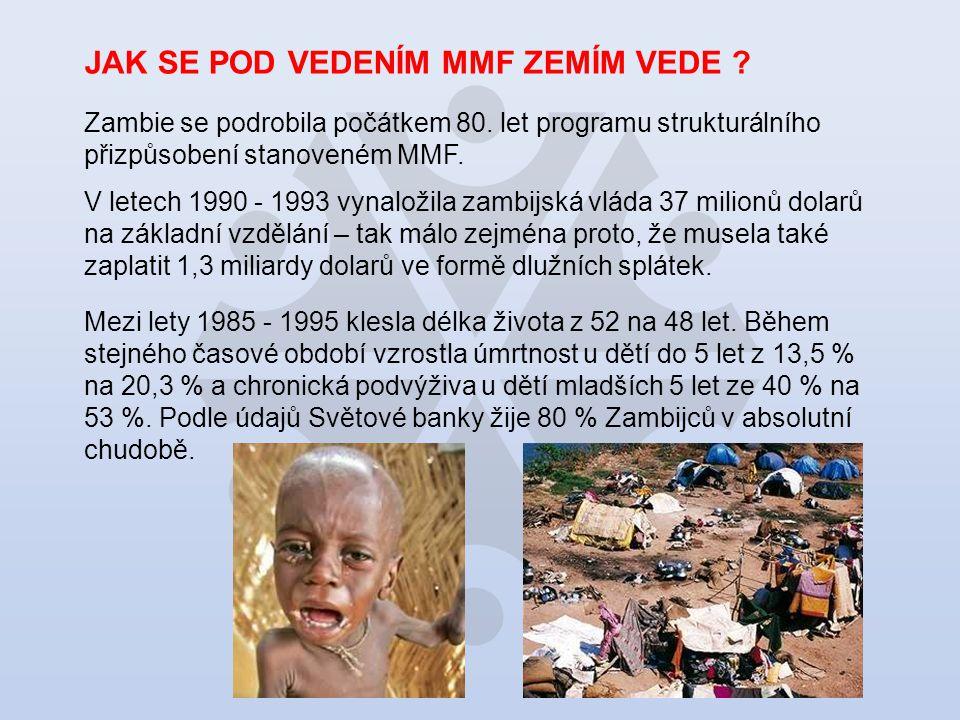 JAK SE POD VEDENÍM MMF ZEMÍM VEDE . Zambie se podrobila počátkem 80.