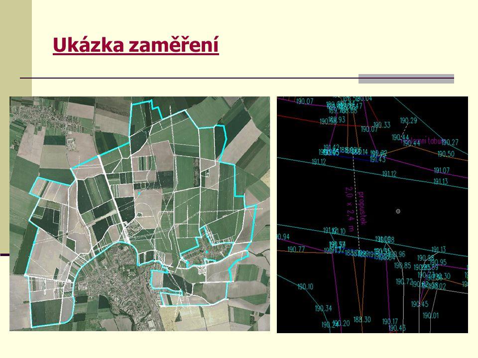 """Zpracování mapového díla  Etapa bezprostředně navazující na návrhové práce  Po nabytí právní moci """"Rozhodnutí o schválení návrhu pozemkových úprav je vytvořena nová digitální katastrální mapa (DKM) včetně souboru popisných informací, které se vztahují k jednotlivým parcelám."""