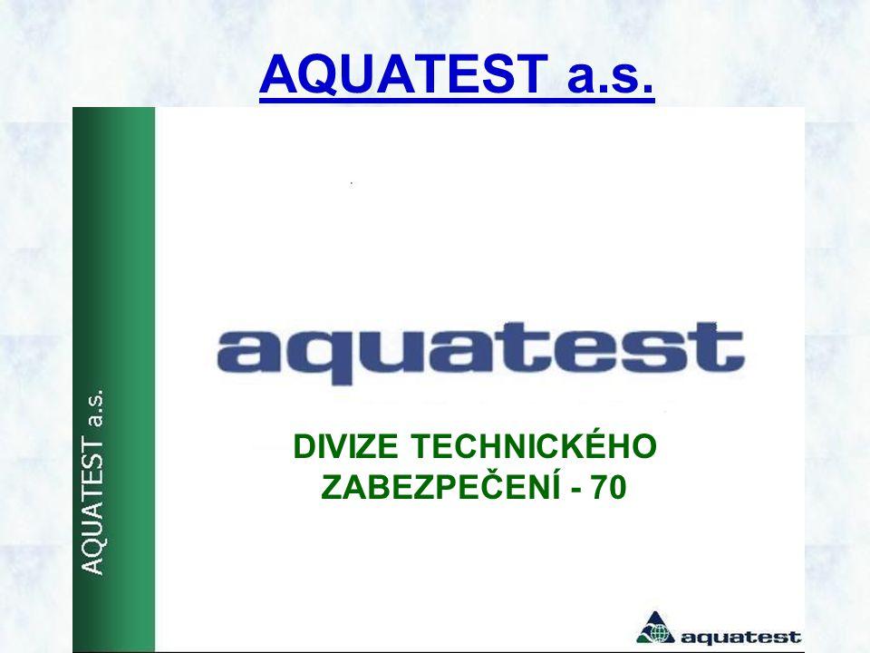 AQUATEST a.s. DIVIZE TECHNICKÉHO ZABEZPEČENÍ - 70