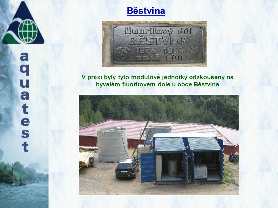 V praxi byly tyto modulové jednotky odzkoušeny na bývalém fluoritovém dole u obce Běstvina Běstvina