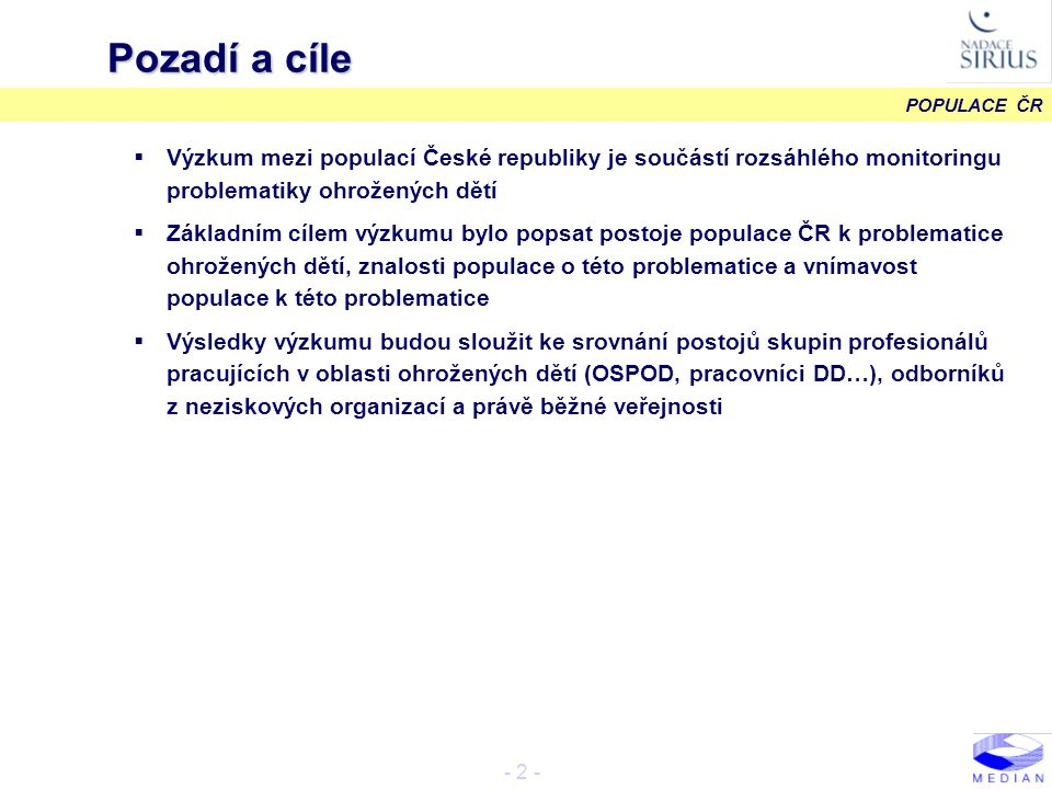 POPULACE ČR - 13 - Faktory ovlivňující život dítěte II.