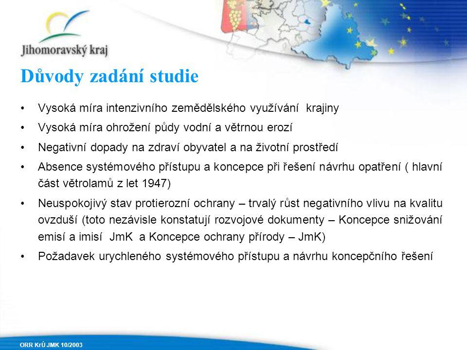 ORR KrÚ JMK 10/2003 Ukázka agrotechnických opatření