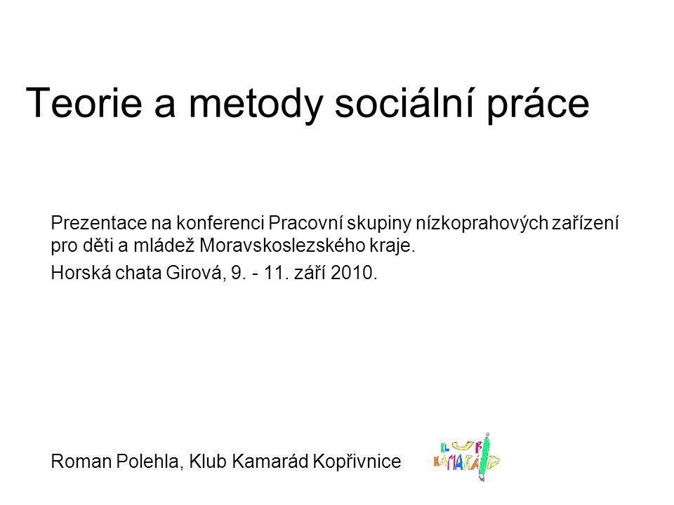Teorie a metody sociální práce Prezentace na konferenci Pracovní skupiny nízkoprahových zařízení pro děti a mládež Moravskoslezského kraje. Horská cha