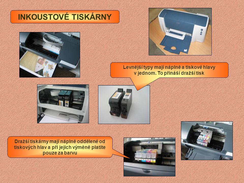 Systém jehliček, který vytvořené písmenko propíše přes pásku na papír podobně jako psací stroj. JEHLIČKOVÉ TISKÁRNY V jehličkových tiskárnách se vyměň