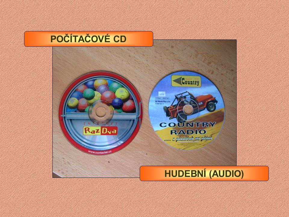 CD-ROM CD A DVD média (nosiče) CD-R (700 MB) Pouze jednorázový zápis (najednou nebo po částech) CD-RW (700 MB) DVD-R a DVD+R (4,7 a 8 GB) DVD-RW a DVD
