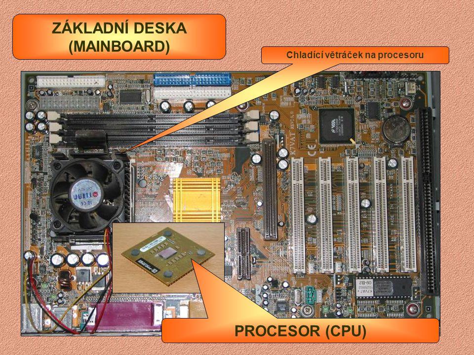 OPERAČNÍ PAMĚŤ RAM Pro starší počítače typu SIMM Pro novější počítače typu DIMM