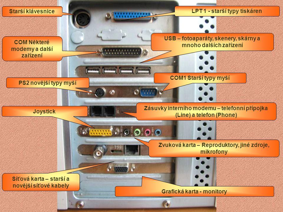 16, 32, 64 128, 256, 512, 1 024…MB TB 000 GB 000 MB 000 kB 000 Bajt JEDNOTKY PRO VELIKOST PAMĚTI Pevný disk C: HDD 40 MB – 300 GB… Disketa A: FDD Oper