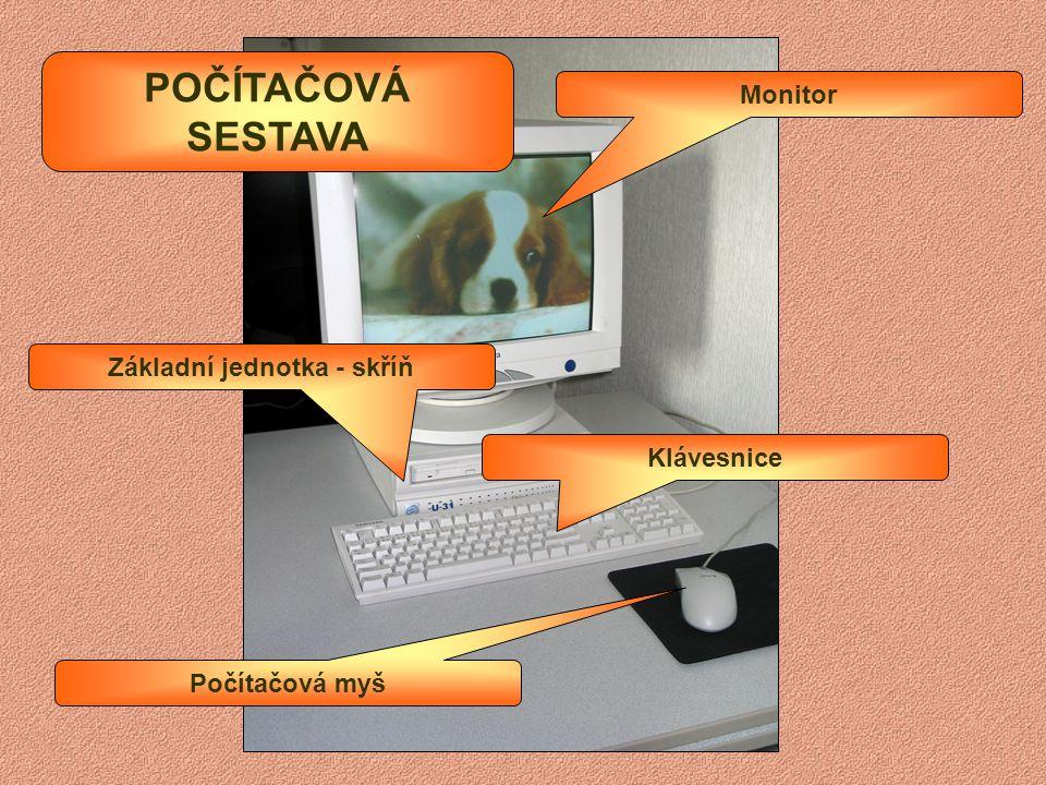 HARDWARE SOFTWARE Monitor Klávesnice Pevný disk Poznámkový blok Malování Kalkulačka Součásti a zařízení Počítačové programy Příklady