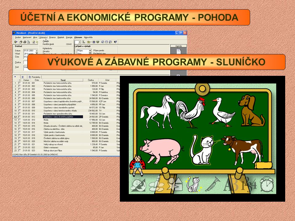 POŠTOVNÍ PROGRAMY - OUTLOOK EXPRES ZVUKOVÉ A VIDEO PROGRAMY - MEDIA PLAYER