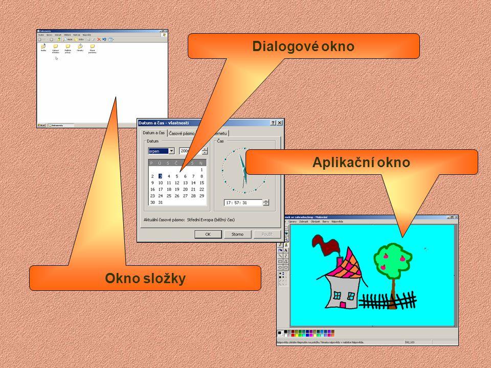 Nabídka – Start – Windows 98 Seznam naposledy použitých datových souborů Nastavení operačního systému Možnost spouštění všech programů Vypnutí počítač