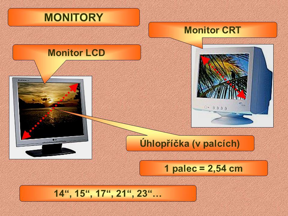 """ základní jednotka (skříň)  obsahuje elektronické součásti počítače  monitor 14"""", 15"""", 17"""", 21"""" …(CRT, LCD)  zobrazuje činnost počítače na své obr"""