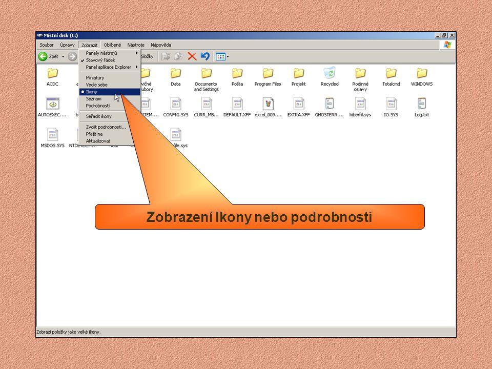 Minimalizační tlačítko Maximalizační a obnovovací tlačítko Zavírací tlačítko