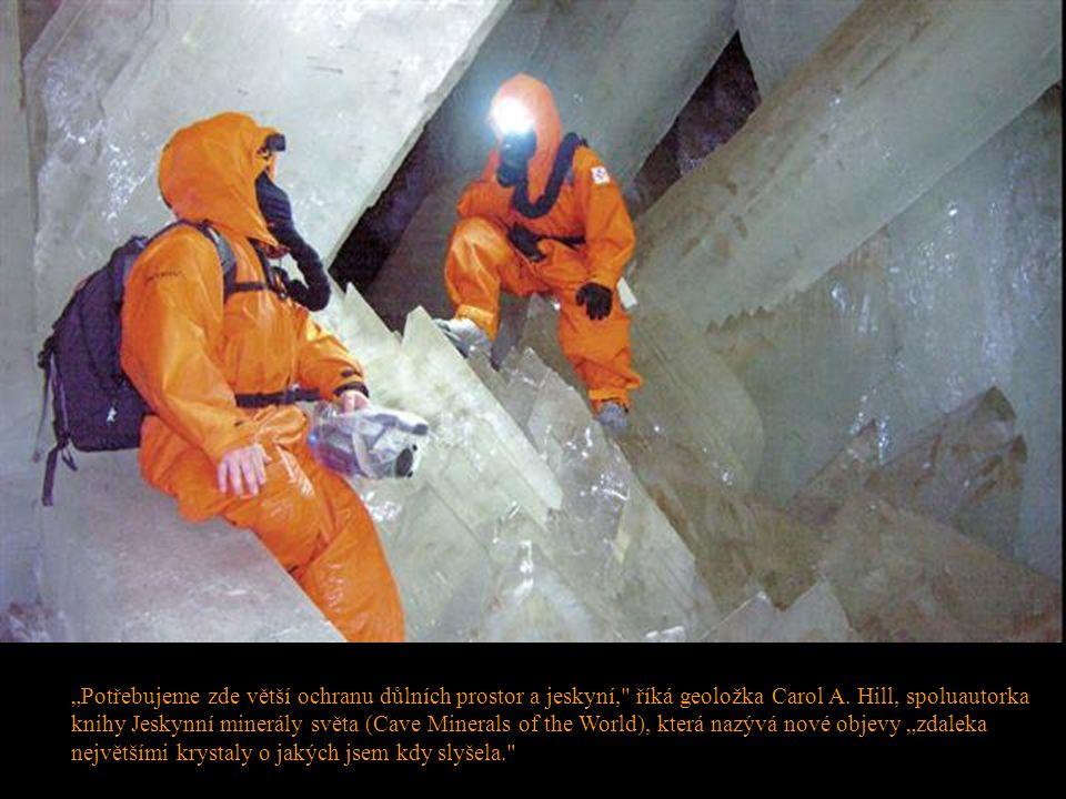 """""""Potřebujeme zde větší ochranu důlních prostor a jeskyní,"""