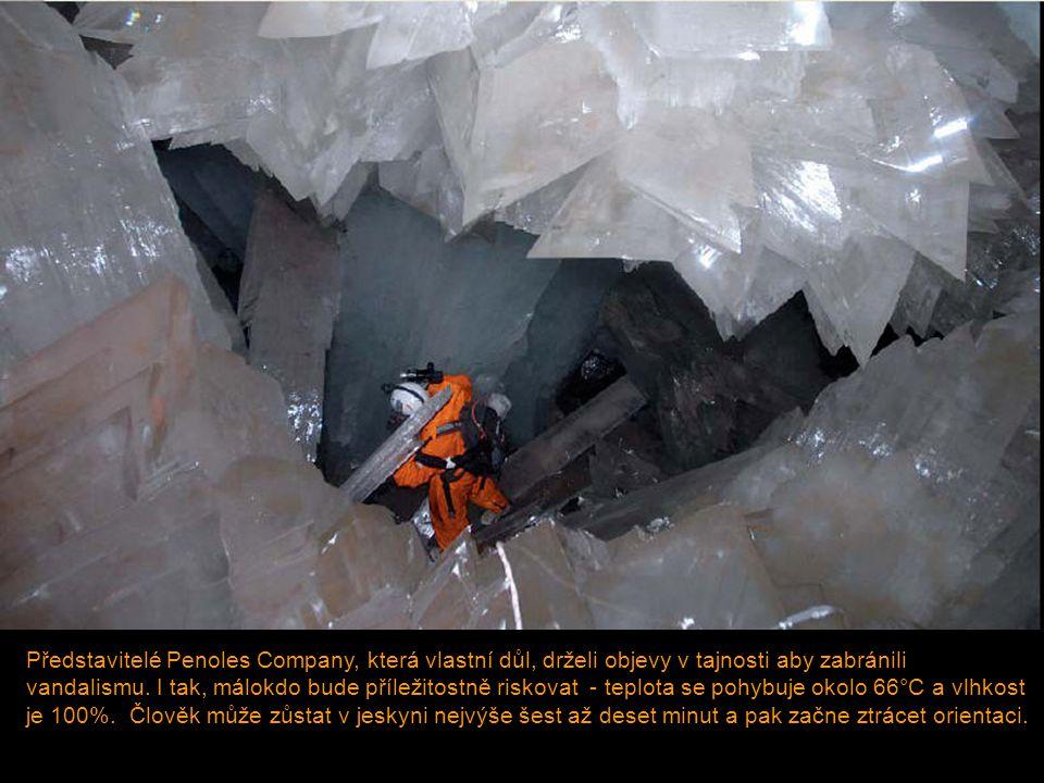Představitelé Penoles Company, která vlastní důl, drželi objevy v tajnosti aby zabránili vandalismu. I tak, málokdo bude příležitostně riskovat - tepl