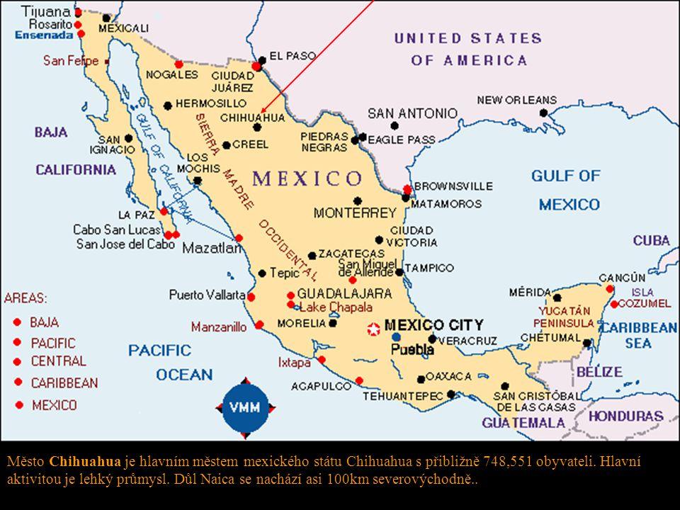 Město Chihuahua je hlavním městem mexického státu Chihuahua s přibližně 748,551 obyvateli. Hlavní aktivitou je lehký průmysl. Důl Naica se nachází asi