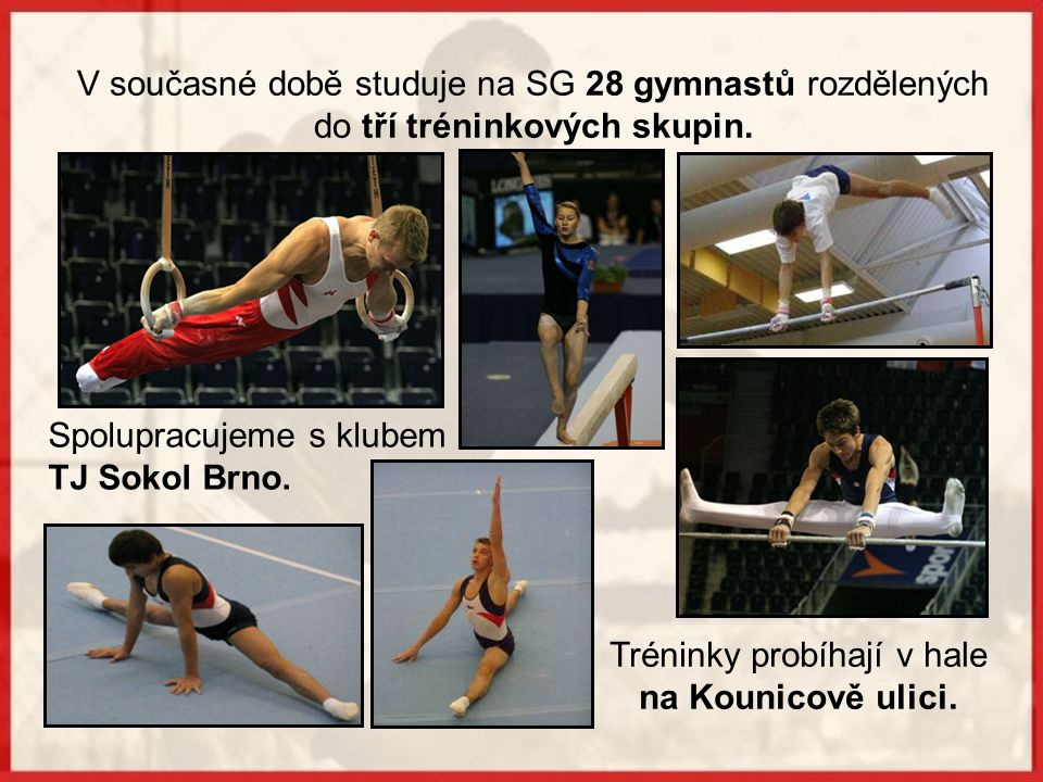 Sportovní gymnastika je na škole od roku 1983