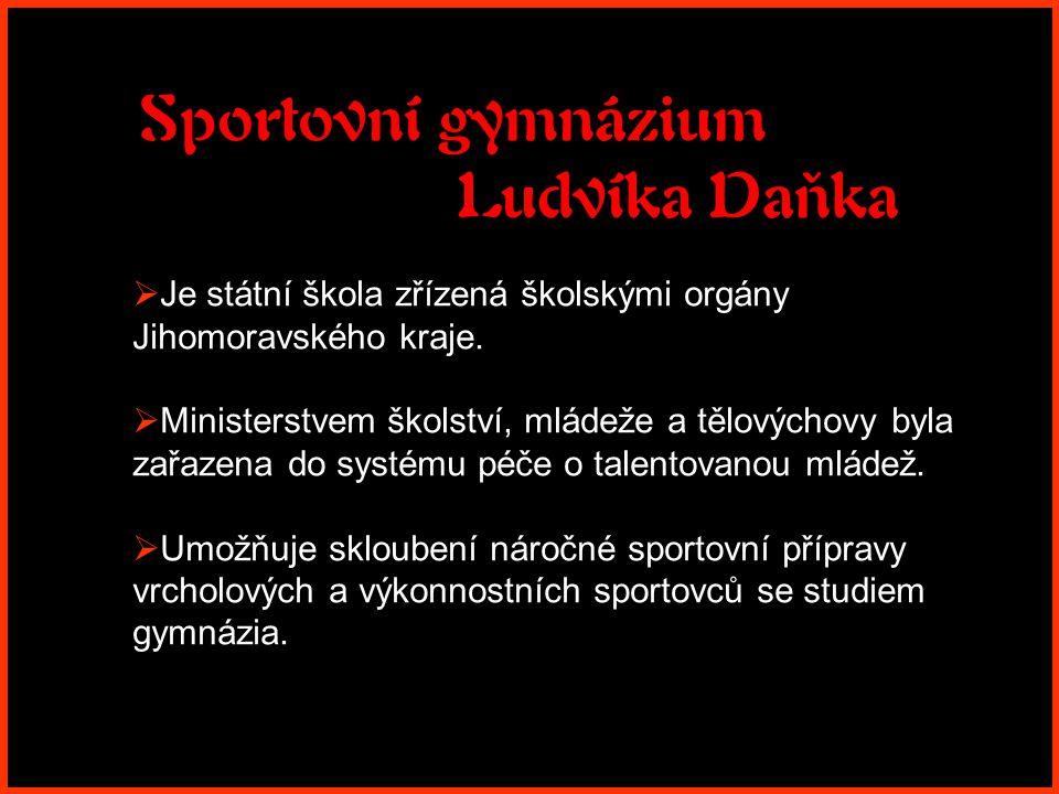 """Sportovní gymnázium Ludvíka Daňka Představuje se Vám """" BOTANKA Brno, Botanická 70"""
