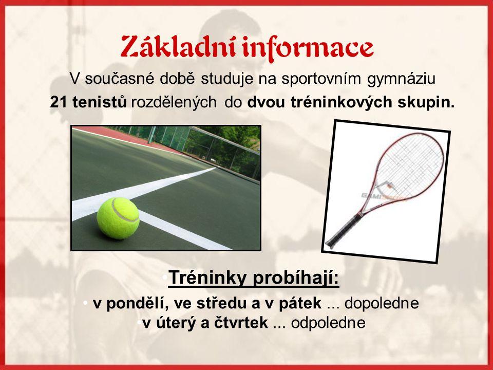 Tenis je na škole od roku 1991