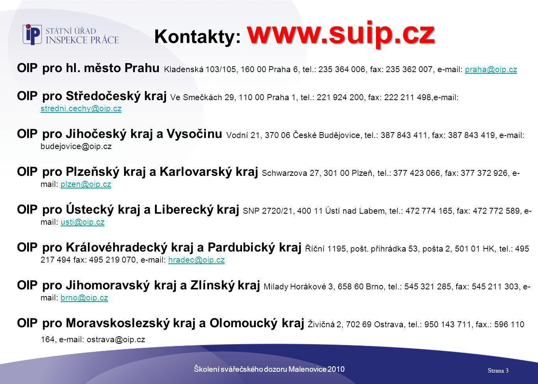 Školení svářečského dozoru Malenovice 2010 Strana 4 Legislativa - ve znění pozdějších předpisů - z.č.