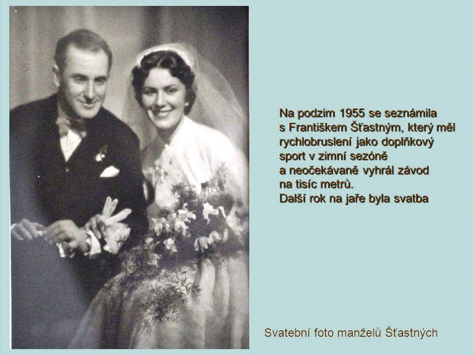 Reprezentovala na bruslích, nejdříve jako krasobruslařka. Od roku 1953 se stala členkou UDA Praha, kde měla pro sport dobré podmínky. Na rychlobruslař