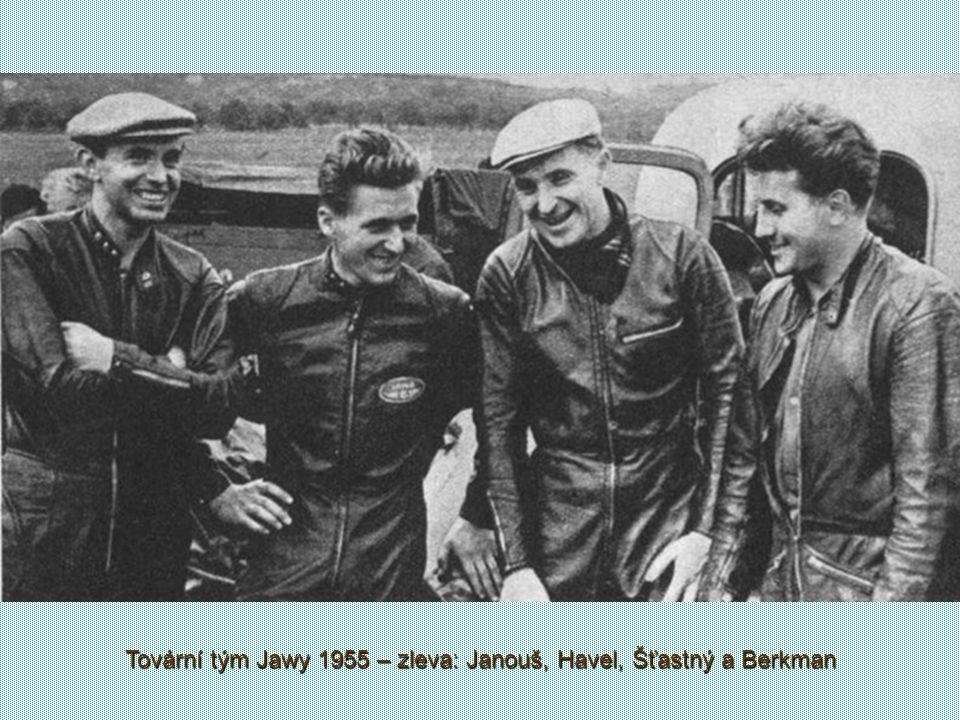 Jeho jméno je ale spojeno s vůní benzínu a se značkou Jawa Když na ojetém motocyklu Norton skončil na Velké ceně Československa v Brně sedmý, všimly s