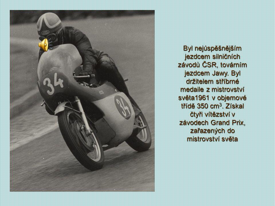 1948 závod Míru Dokonce se v roce 1948 ve Varšavě postavil na start vůbec prvního Závodu míru. Prý se i vsadil s tehdejším českým cyklistickým mistrem