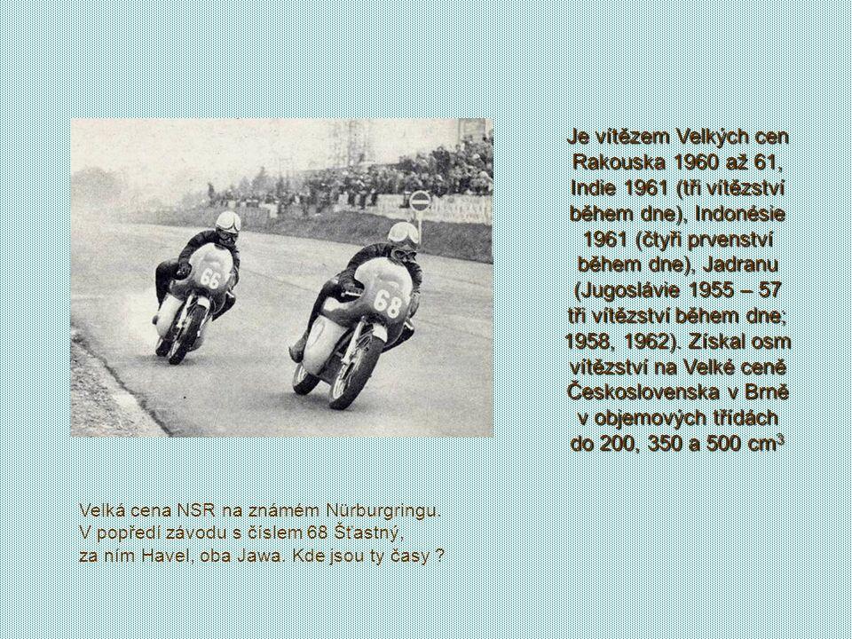 Absolvoval na 500 závodů z toho 200 vítězných. vyhrál celkem 17 velkých cen, 4x závod zařazený do mistrovství světa. V roce 1961 měl na dosah titul mi