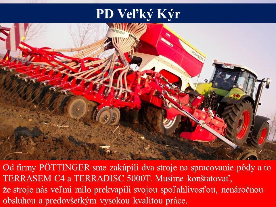 Seite 13Freitag, 20. Juni 2014 Alois Pöttinger Maschinenfabrik GmbH Od firmy PÖTTINGER sme zakúpili dva stroje na spracovanie pôdy a to TERRASEM C4 a