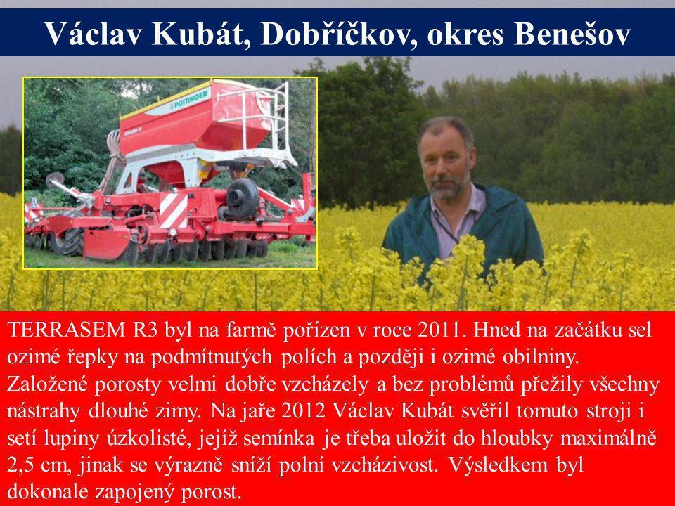 Seite 21Freitag, 20. Juni 2014 Alois Pöttinger Maschinenfabrik GmbH Václav Kubát, Dobříčkov, okres Benešov TERRASEM R3 byl na farmě pořízen v roce 201