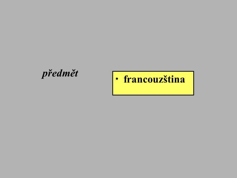 předmět • francouzština