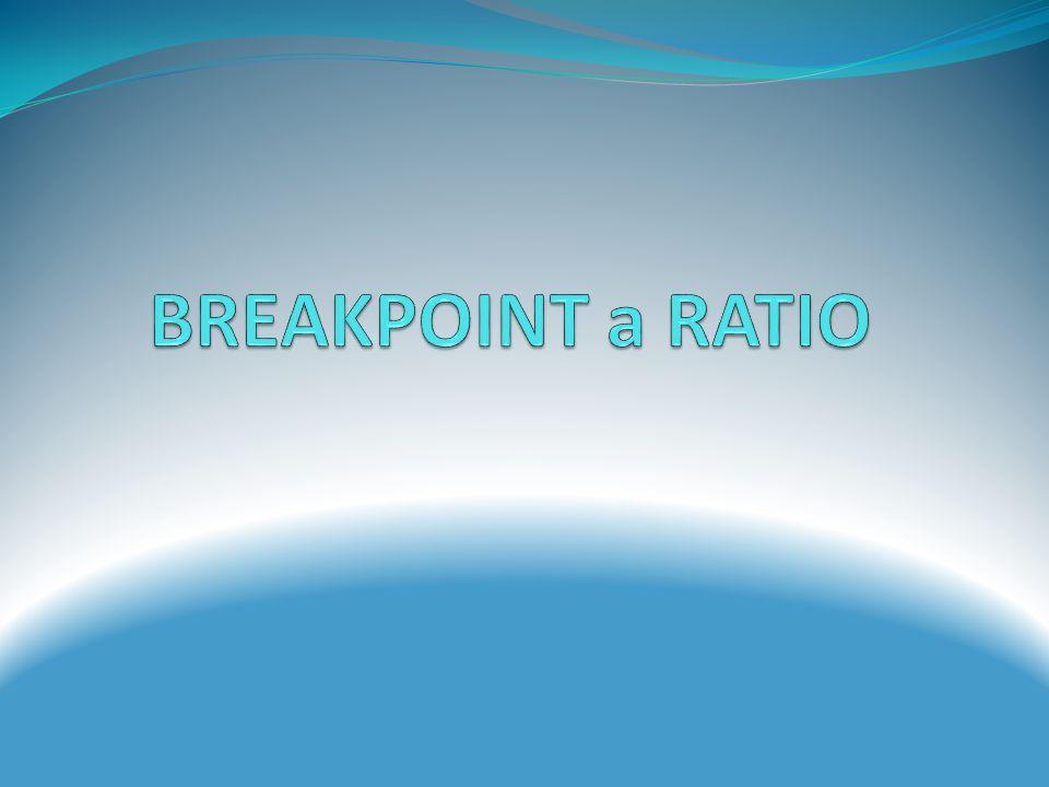 Krátké mazaní Ratio v místě Breakpointu (nejideálnější místo pro hru) Pozn.Zde vycházíme z Track zone ratia, vzhledem k tomu, že hrajeme 5R-7R