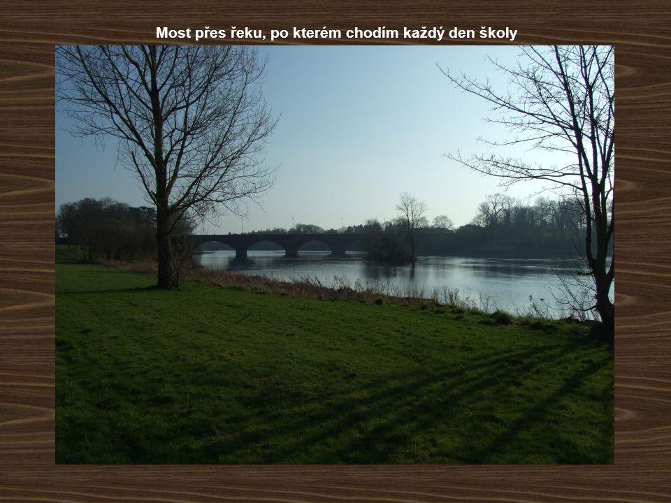 Most přes řeku, po kterém chodím každý den školy