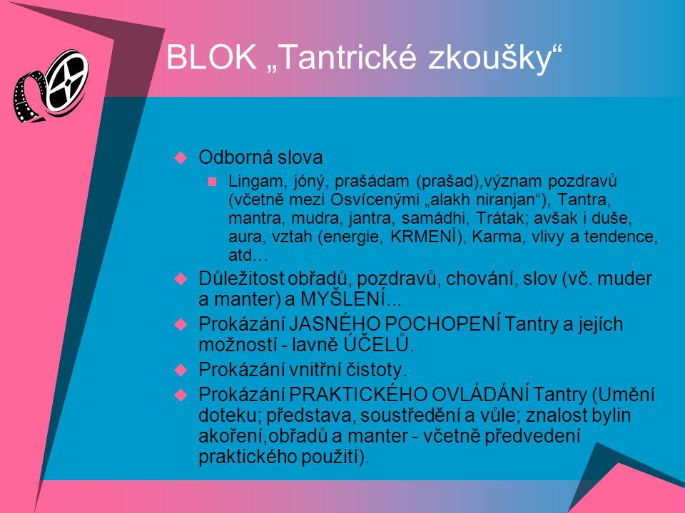 """BLOK """"Vůle a odpovědnost""""  Přednáška na téma (sg. Tatrawadarsi a na téma souvisejícího projektu Cizinec. sgm. Lila).  Zpěv písně """"Díky…"""" (dle denní"""