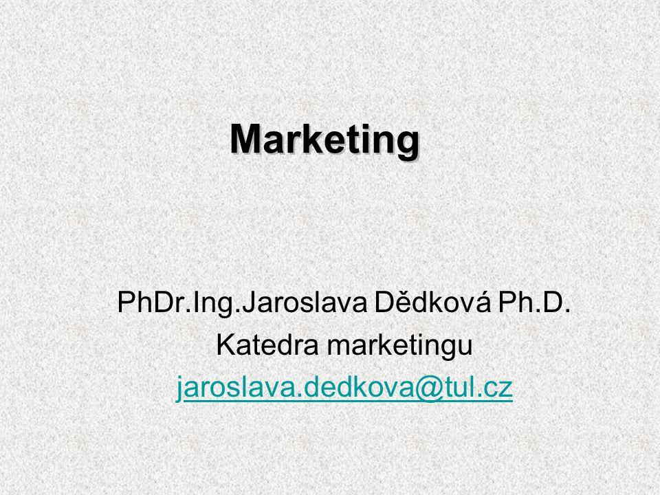 Odborná literatura Alsbury A., Jay R.Marketing to nejlepší z praxeComputer Press Praha 2002 Dědková J.