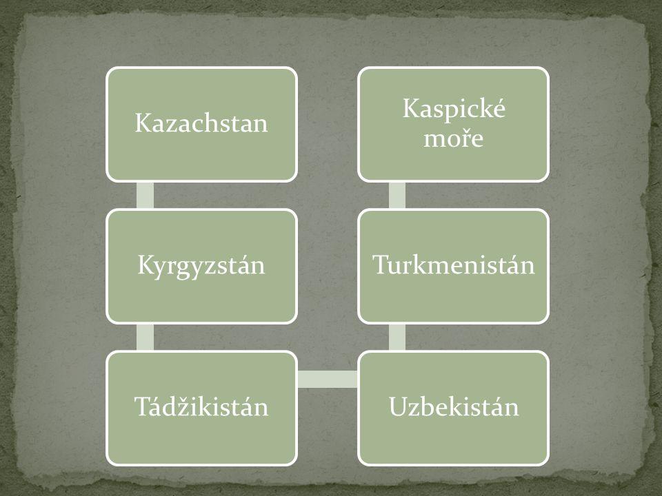 KazachstanKyrgyzstánTádžikistánUzbekistánTurkmenistán Kaspické moře