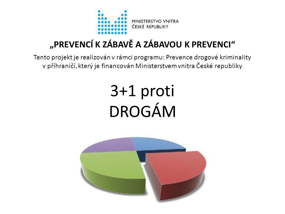 """3+1 proti DROGÁM """"PREVENCÍ K ZÁBAVĚ A ZÁBAVOU K PREVENCI"""" Tento projekt je realizován v rámci programu: Prevence drogové kriminality v příhraničí, kte"""