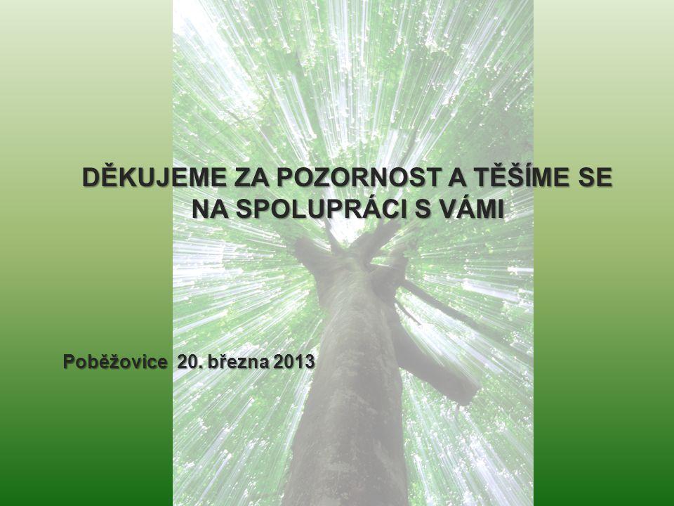 . DĚKUJEME ZA POZORNOST A TĚŠÍME SE NA SPOLUPRÁCI S VÁMI Poběžovice 20. března 2013