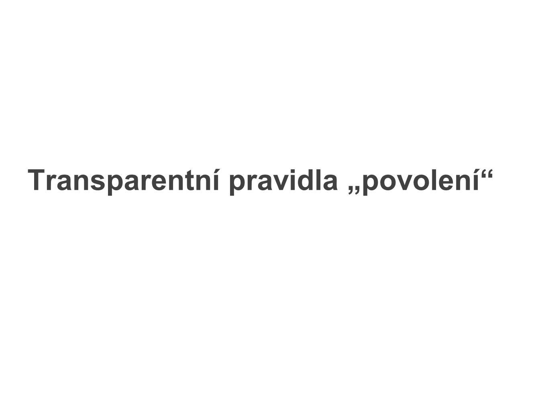 """Transparentní pravidla """"povolení"""""""