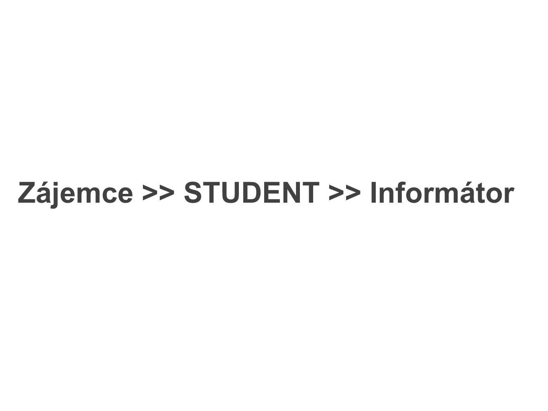 Zájemce >> STUDENT >> Informátor