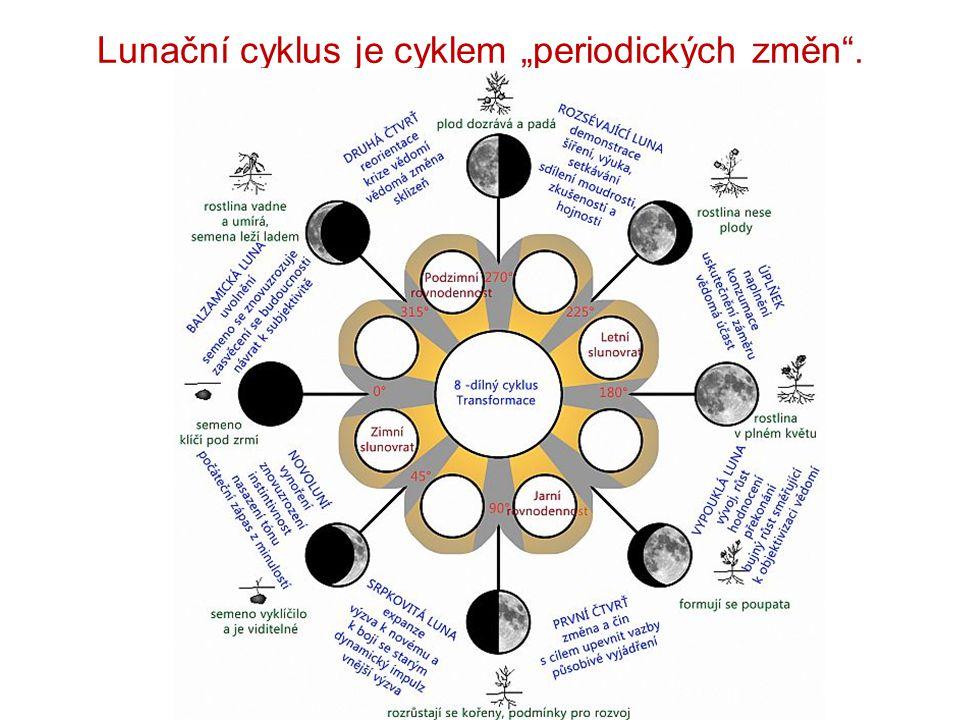 """Lunační cyklus je cyklem """"periodických změn ."""