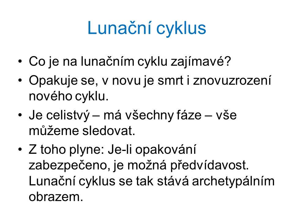Lunační cyklus •Co je na lunačním cyklu zajímavé.