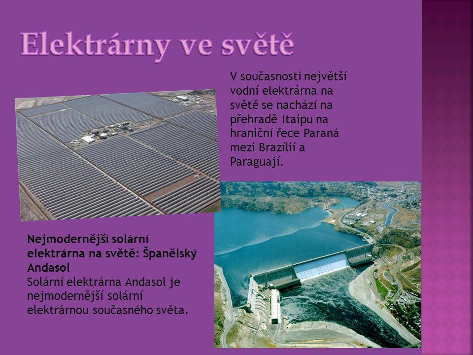 Nejmodernější solární elektrárna na světě: Španělský Andasol Solární elektrárna Andasol je nejmodernější solární elektrárnou současného světa. V souča