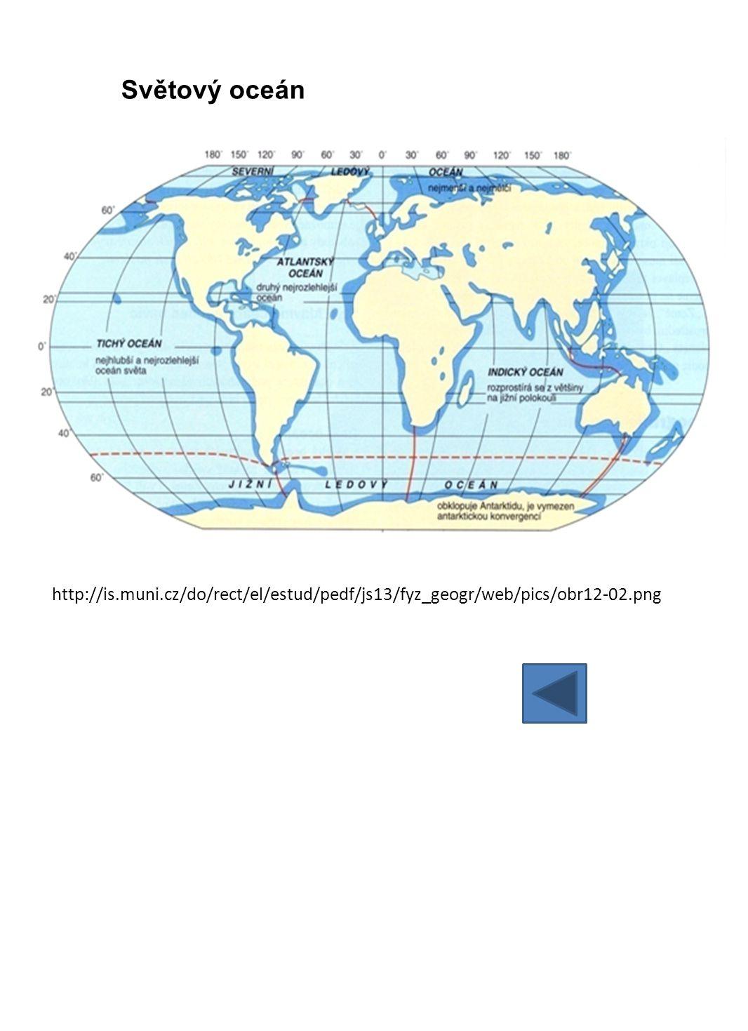Vlastnosti mořské vody a) slanost = salinita - co udává slanost mořské vody.