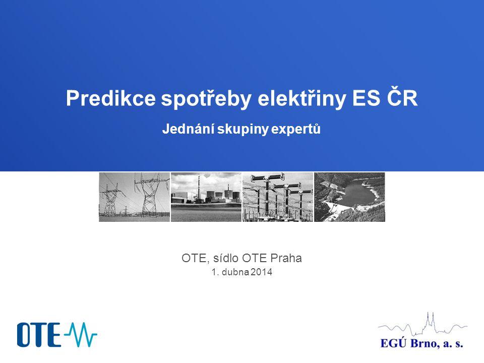 EGÚ Brno, a.s. Sekce provozu a rozvoje elektrizační soustavy 82 Hlavní charakteristiky predikce I.