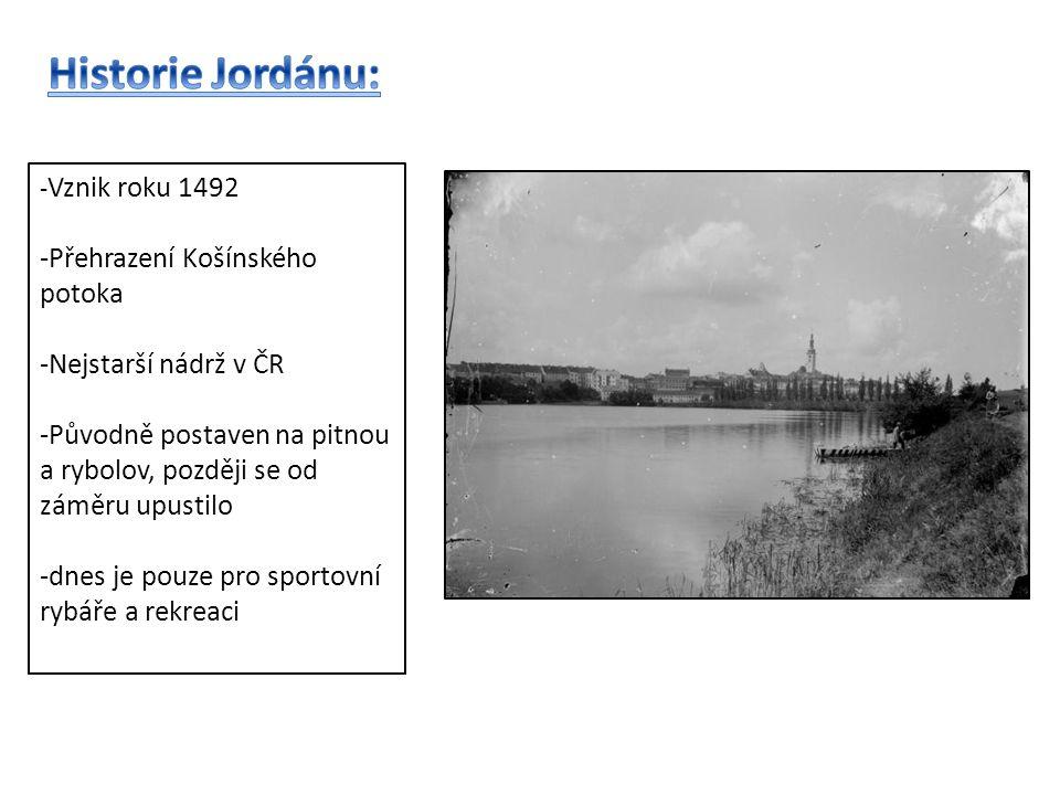- Vznik roku 1492 -Přehrazení Košínského potoka -Nejstarší nádrž v ČR -Původně postaven na pitnou a rybolov, později se od záměru upustilo -dnes je pouze pro sportovní rybáře a rekreaci